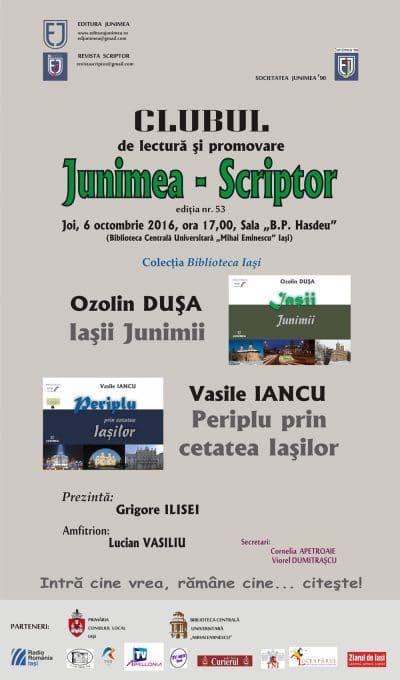 afis-clubul-junimea-scriptor-6-oct