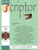 Scriptor Anul III, nr. 3-4 (martie-aprilie) 2017