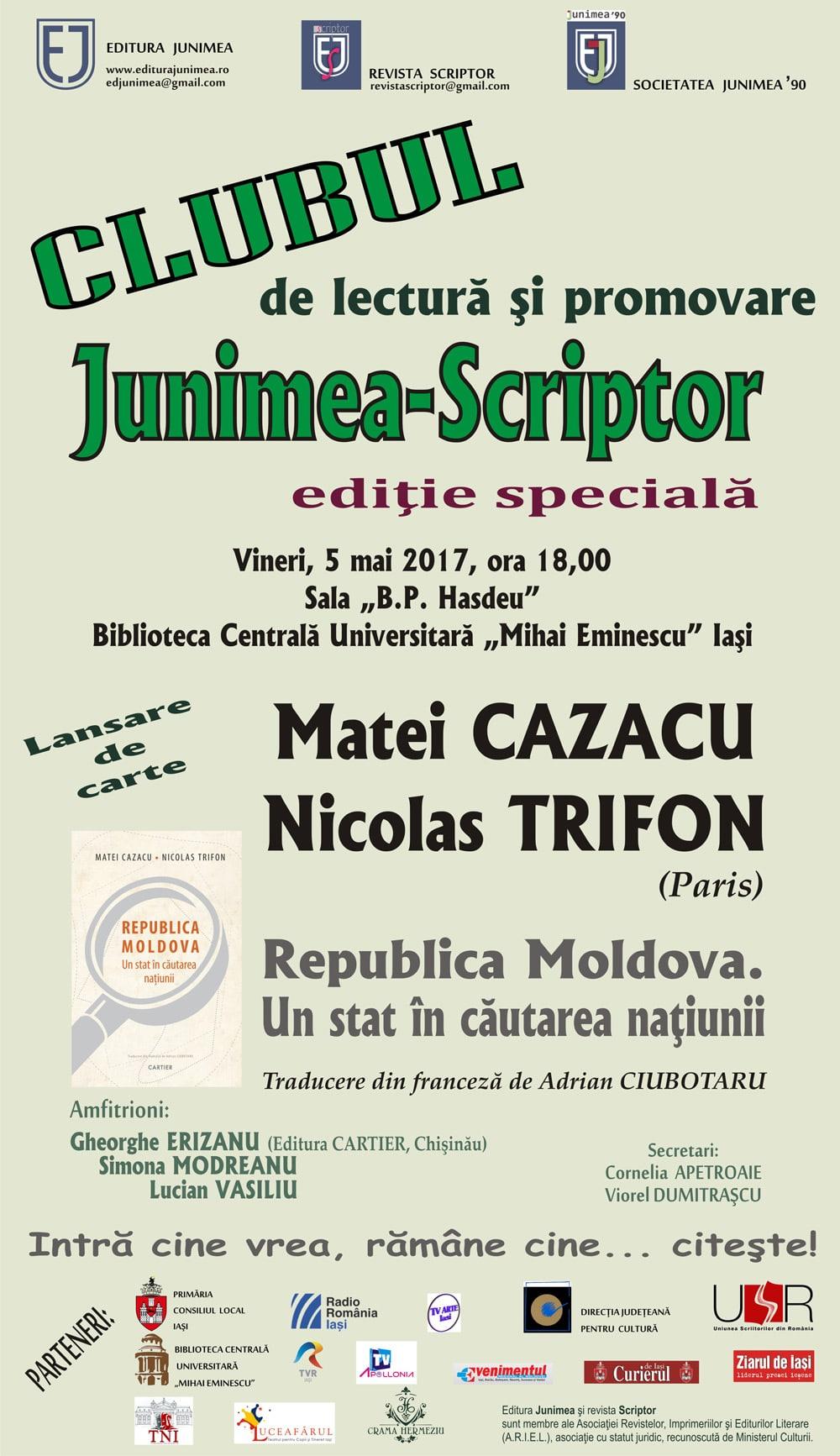CLUBUL de lectură şi promovare JUNIMEA-SCRIPTOR – Ediţie specială