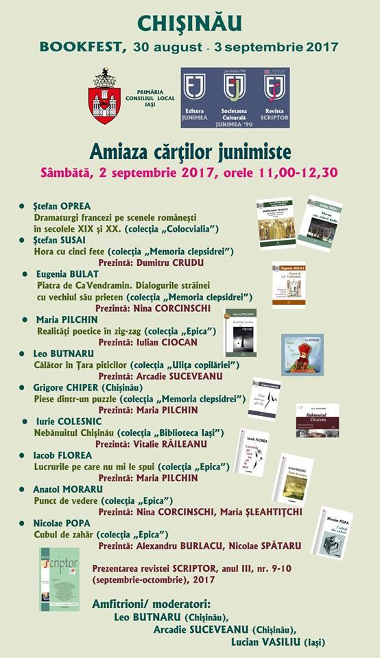 Editura Junimea la BOOKFEST – Chişinău 2017