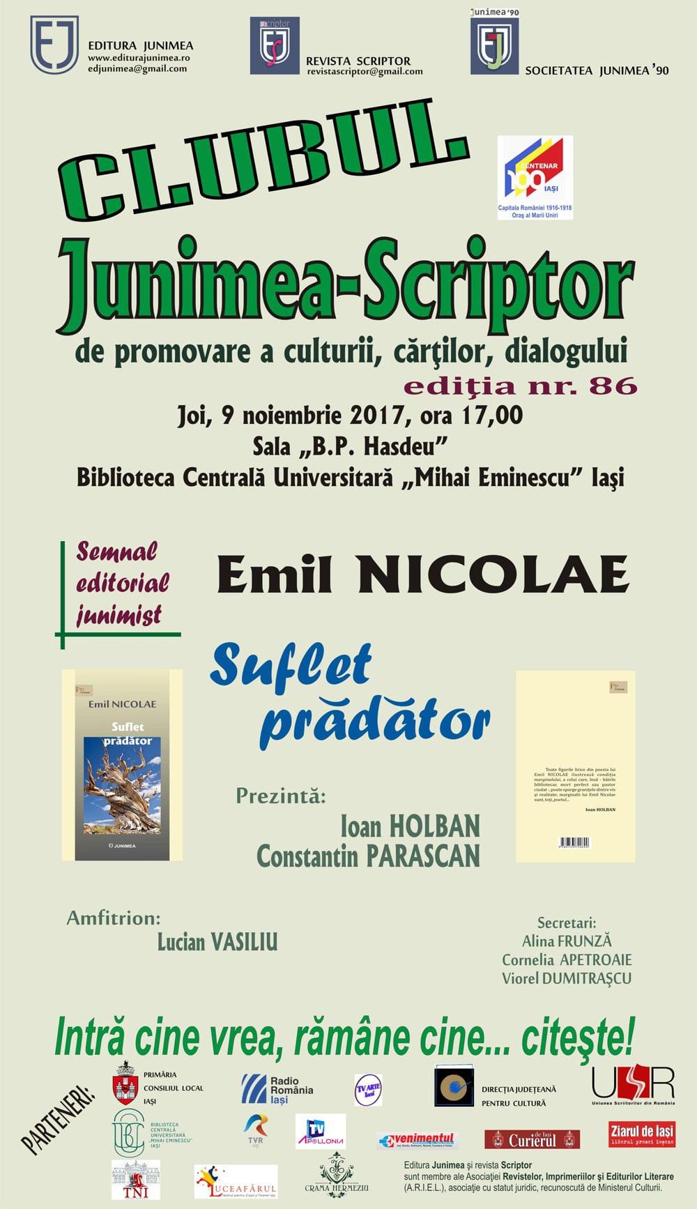 CLUBUL de lectură şi promovare JUNIMEA-SCRIPTOR