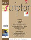 Scriptor Anul IV, nr. 3-4 (martie-aprilie) 2018