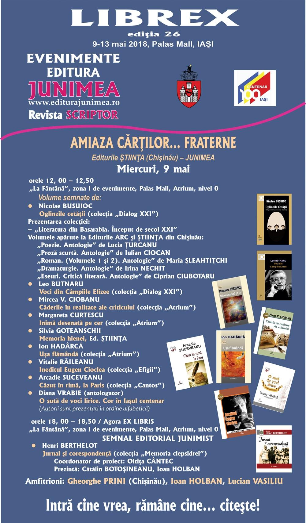 Editura Junimea la Librex 2018