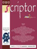 Scriptor Anul V, nr. 9-10 (septembrie-octombrie) 2019