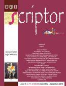 Scriptor Anul V, nr. 11-12 (noiembrie-decembrie) 2019