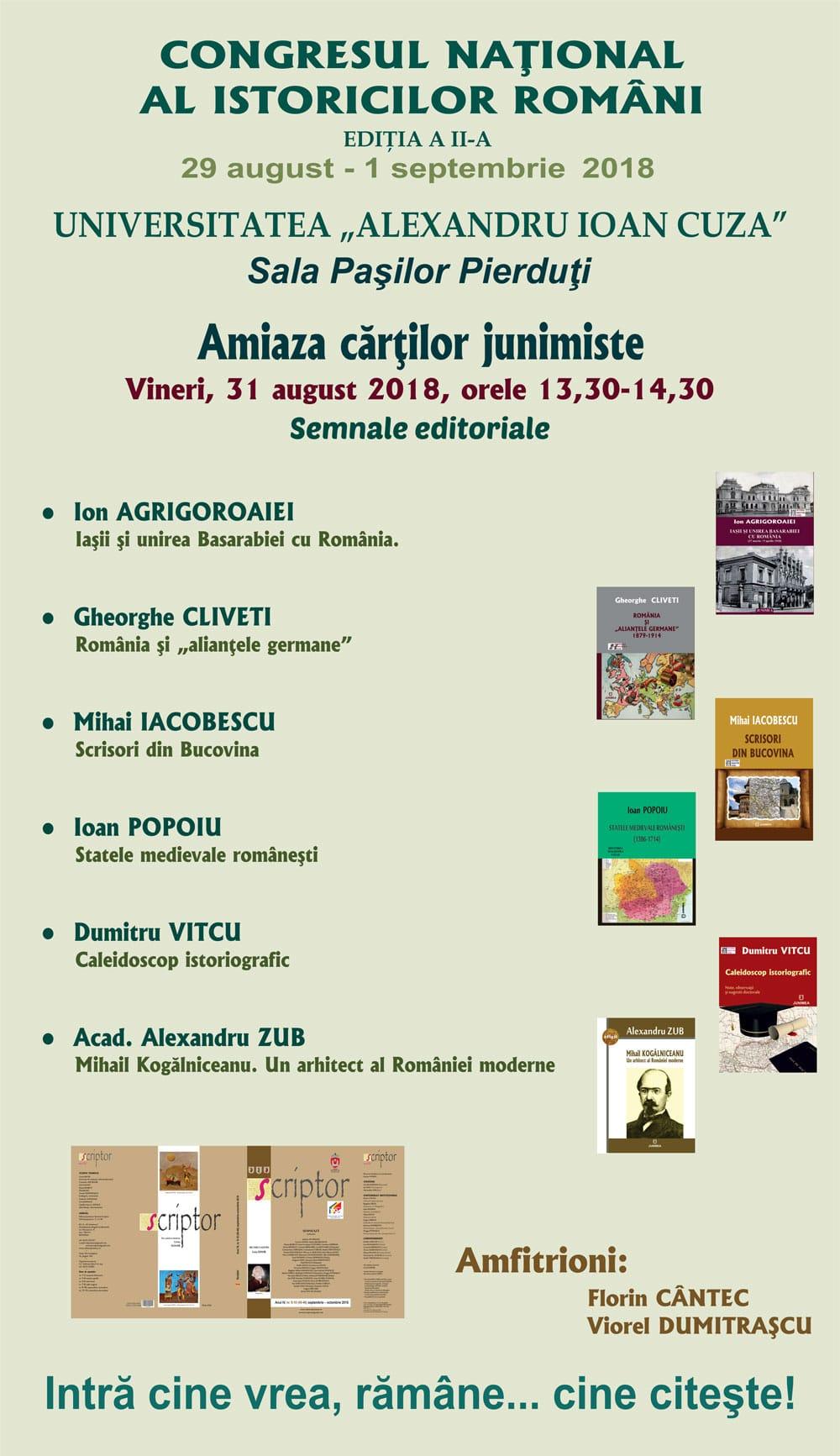 Junimea - Scriptor la Congresul Naţional al Istoricilor Români – Iaşi