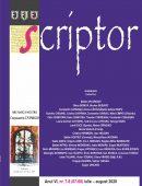 Scriptor Anul VI, nr. 7-8 (iulie-august) 2020
